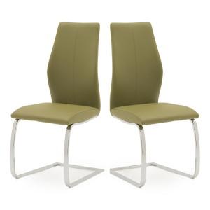 Vida Living Elis Dining Chair Olive Pair