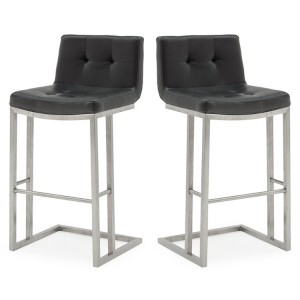 Vida Living Elstra Barstool Black Pair