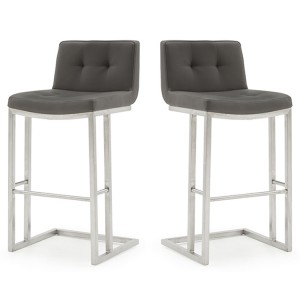 Vida Living Elstra Barstool Grey Pair