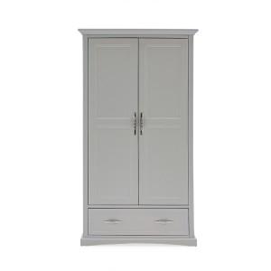 Vida Living Harlow Painted Furniture 2 Door Wardrobe Grey