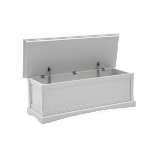 Vida Living Harlow Painted Furniture Blanket Box White