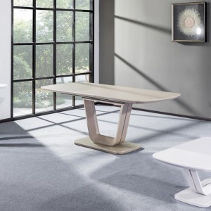 Vida Living Lazzaro Furniture Cappuccino 160-200 Extending Dining Table