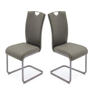 Vida Living Lazzaro Furniture Cappuccino Dining Chair Pair