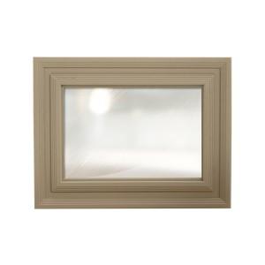 Vida Living Logan Taupe Painted & Oak Wall Mirror