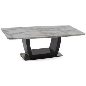 Vida Living Luciana High Gloss & Marble Coffee Table