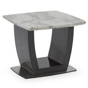 Vida Living Luciana High Gloss & Marble Lamp Table