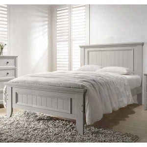 Vida Living Mila Clay 4ft Small Double Panelled Bed