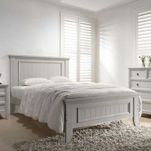 Vida Living Mila Clay 4ft6 Double Panelled Bed