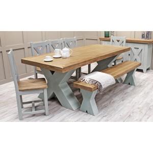 Vida Living Monroe Grey & Oak Furniture 190cm Dining Table