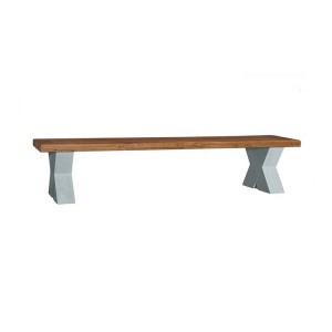 Vida Living Monroe Grey & Oak Furniture 190cm Solid Seat Bench