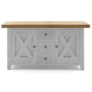 Vida Living Monroe Grey & Oak Furniture Sideboard