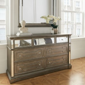 Vida Living Ophelia Silver & Mirrored Dressing Chest