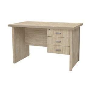 Vida Living Oscar Light Oak Finish 120cm 3 Drawer Desk