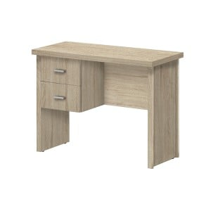 Vida Living Oscar Light Oak Finish 2 Drawer Desk