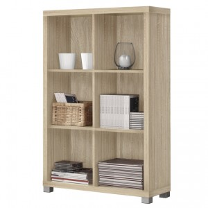 Vida Living Oscar Light Oak Finish Low Bookshelf