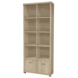 Vida Living Oscar Light Oak Finish Tall Bookshelf