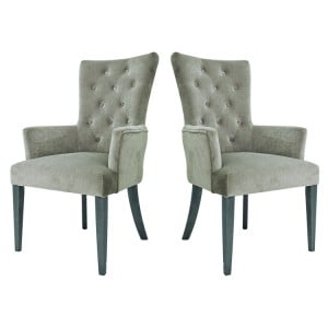 Vida Living Pembroke Velvet Arm Chair Taupe Pair