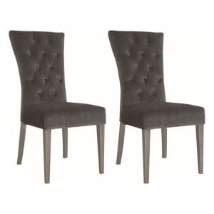 Vida Living Pembroke Velvet Dining Chair Charcoal Pair
