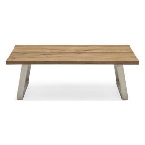 Vida Living Trier European Oak & Stainless Steel Coffee Table