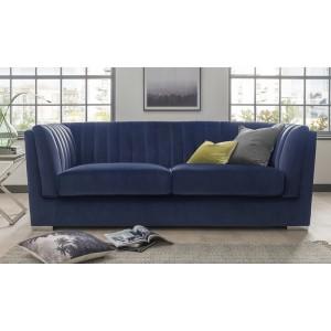 Vida Living Upton Grand 3 Seater Sofa Blue