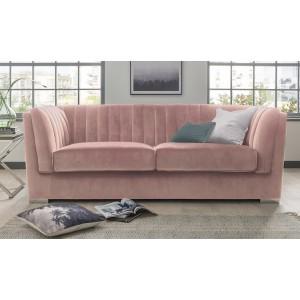Vida Living Upton Grand 3 Seater Sofa Blush