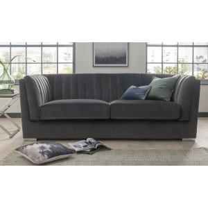 Vida Living Upton Grand 3 Seater Sofa Charcoal