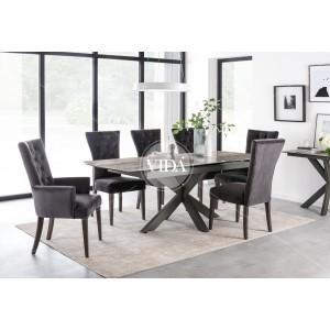 Vida Living Valerius Ceramic & Metal 170-220cm Extending Dining Table