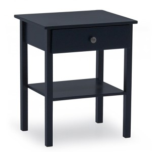 Vida Living Willow Blue Painted Furniture 1 Drawer Bedside Table