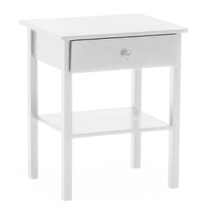 Vida Living Willow Painted Bedside Table White