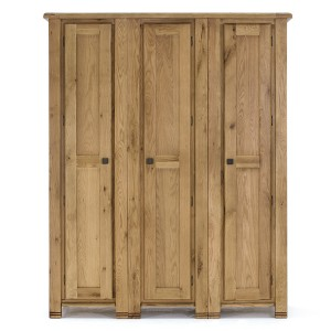 Vida Living York Oak Furniture 3 Door Wardrobe