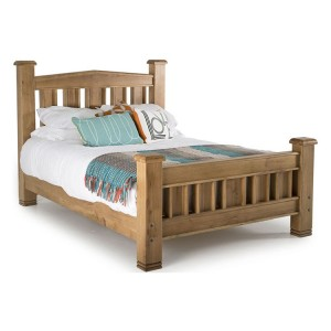 Vida Living York Oak Furniture 4ft6 Double Bed