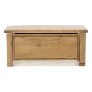 Vida Living York Oak Furniture Blanket Box