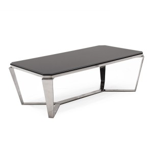 Vida Living Zola Stainless Steel & Glass Coffee Table