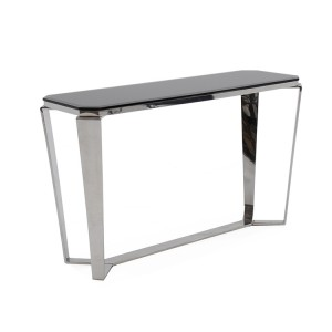 Vida Living Zola Stainless Steel & Glass Console Table