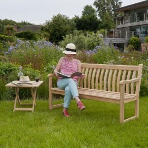 Alexander Rose Garden Furniture Roble Broadfield Bench 5ft & Side Table Set