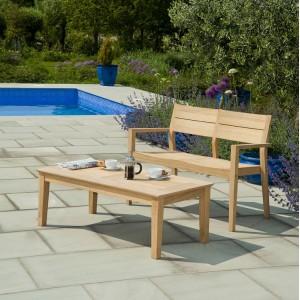 Alexander Rose Roble Garden Bench 4ft & Coffee Table Set