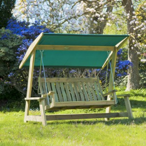 Alexander Rose Garden Furniture Solid Pine Farmers Swing Seat (Green)