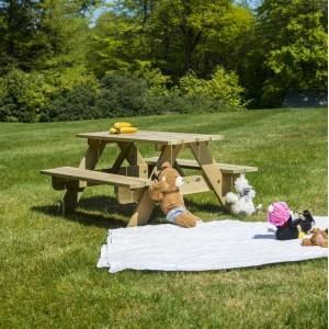 Alexander Rose Garden Furniture Solid Pine Children's 2ft Picnic Table