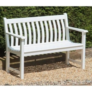 Alexander Rose Garden Furniture New England White Broadfield 4ft Bench
