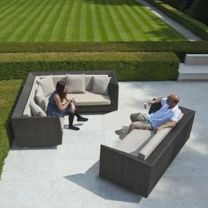 Alexander Rose Ocean Bronze Garden Maldives Corner & 3 Seat Sofa Set