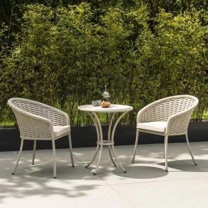 Alexander Rose Cordial Garden Beige 2 Seater Sand Bistro Dining Set
