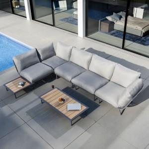 Alexander Rose Beach Garden Flint Large Corner Sofa Lounge Set