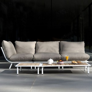 Alexander Rose Beach Garden Shell 3 Seater Open End Sofa Lounge Set