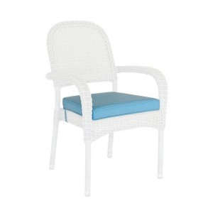 Alexander Rose Classic White Garden Stacking Armchair Cushion