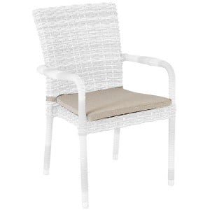 Alexander Rose Garden Premium Olefin Stacking Rattan Armchair Cushion