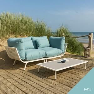 Alexander Rose Beach Garden Shell 2 Seater Sofa & Sand Coffee Table