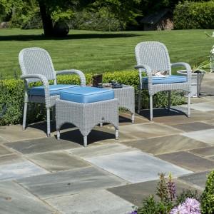 Alexander Rose Classic White Garden 2 Stacking Armchair Lounge Set