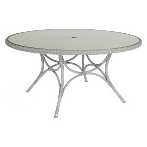 Alexander Rose Classic White Garden 1.55m Glass Top Table