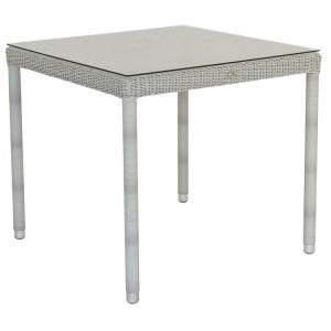 Alexander Rose Classic White Garden 80cm Glass Top Table