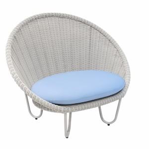 Alexander Rose Classic White Garden Oyster Round Chair